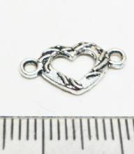 Heart connector 15mm x 10mm x 15